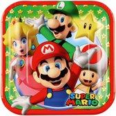 8 Plates Super Mario 18 x 18 cm