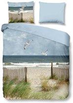 Snoozing Beach - Flanel - Dekbedovertrek - Lits-jumeaux - 240x200/220 cm + 2 kussenslopen 60x70 cm - Multi kleur