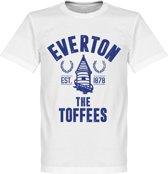 Everton Established T-Shirt - Wit - XL
