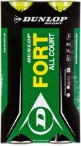 Dunlop FORT ALL COURT TS 2X4TIN CARTONETTE - Geel - Tennisballen