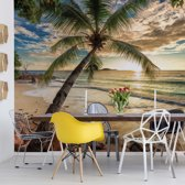 Fotobehang Tropical Beach Sunset | VEXXXL - 416cm x 254cm | 130gr/m2 Vlies