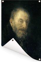 'De oude Isaac' - Schilderij van Jozef Israëls Tuinposter 40x60 cm - klein - Tuindoek / Buitencanvas / Schilderijen voor buiten (tuin decoratie)