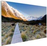FotoCadeau.nl - Pad naar de bergen Glas 60x40 cm - Foto print op Glas (Plexiglas wanddecoratie)