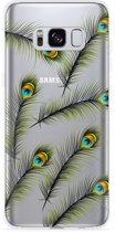 Galaxy S8 plus Hoesje Peacock Feathers