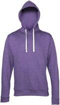 Hooded sweater paars voor heren L