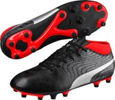 ONE 18.4 FG - Voetbalschoenen Heren - Black/Silver/Red Blast