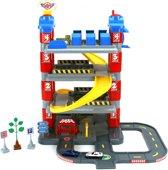 Afbeelding van Dolu Toy Factory New York Garage met 4 Etages/2 Die-Cast Autos/2 Verkeersborden/Boom