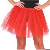 Petticoat/tutu rokje rood 40 cm voor dames - Tule onderrokjes rood S-M-L