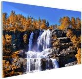 Waterval in Noorwegen Glas 60x40 cm - Foto print op Glas (Plexiglas wanddecoratie)