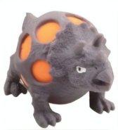 Johntoy Squeezy Dino - Triceratops 10 Cm Grijs