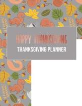 Happy Thanksgiving- Thanksgiving planner: Organizer with guest list, grocery list, shopping list, recipe list & meal planner, event timeline & to do l