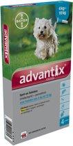 Bayer Advantix 100/500 - Hond -  4-10 KG - 4 Pipetten