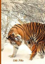 Ethi Pike - Tiger and Cub Notebook / Extended Lines / Soft Matte Cover