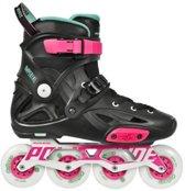Powerslide Inline Skates Imperial One 80 Zwart Fluor Maat 42
