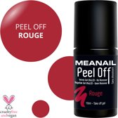Gel Nagellak - PEEL OFF - MEANAIL® Paris - Rood - 10ml