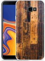 Galaxy J4 Plus Hoesje Special Wood