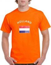 Oranje Holland t-shirt met vlag S