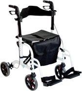 Aidapt transport rolstoel rollator - aluminium