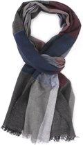 Dunne sjaal - Mooie sjaal - Blokken design - 100% katoenen sjaal
