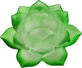 Sfeerlicht - Lotus - glas - groen - 5.5 x 12 cm