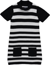 Blue Seven Meisjes Jurk Zwart Wit gestreept - Maat 104