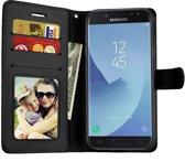 Portmeonnee hoesje met opbergvakjes voor Samsung Galaxy J4 (2018) Zwart