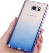 Samsung Galaxy Note 5 Transparant siliconen hoesje (blauw)