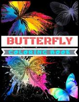 Butterfly Coloring Book: A Butterfly Coloring Book, Large, Simple, and Easy to color Designed Inspire Creativity For All Levels