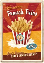 Metal card  french fries -10x14cm-