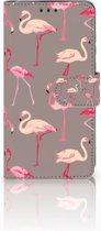 Huawei P30 Uniek Boekhoesje Flamingo