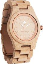 WoodWatch FEMME Rosegold Maple | Houten horloge voor vrouwen
