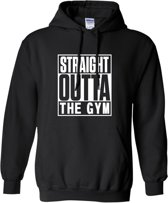 Hoodie sweater | Fitness | Straight outta the gym | Maat Medium