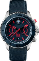 Ice-Watch IW001126 - Polshorloge - Leer - Blauw - Extra Large - Ø53mm
