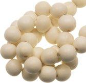Houten Kralen Intense Look (6 mm) White (280 stuks)