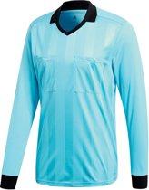 adidas Referee 18 LS Jersey Sportshirt performance - Maat S  - Mannen - blauw