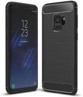 Samsung Galaxy S9 - Geborsteld Hard Back Case Carbon Fiber Design - Zwart
