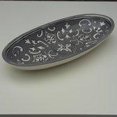 Ovale Schaal Nejma Gris 30 cm