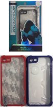 King Kong Anti-Shock - Hard Back Cover voor Apple iPhone 7 / iPhone 8 - Transparant met Zwarte Rand