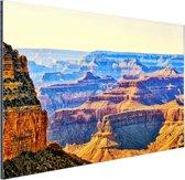 Uitizicht over Grand Canyon Aluminium 120x80 cm - Foto print op Aluminium (metaal wanddecoratie)
