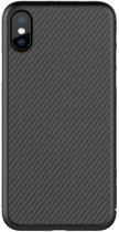 """Nillkin Hard Case Synthetisch Carbon voor iPhone X (5.8"""") - Zwart"""