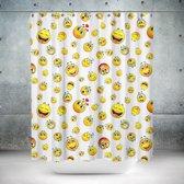 Roomture - douchegordijn - Smiley - 180 x 200