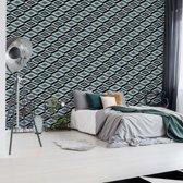 Fotobehang Black And White Pattern | V8 - 368cm x 254cm | 130gr/m2 Vlies