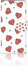 LG V40 Thinq Boekhoesje Design Hearts