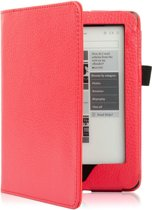 PU Leren Sleepcover Beschermhoes Voor Kobo Glo HD / Touch 2.0 - Slimfit Smart Case Cover Sleeve Hoes - Rood