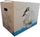 Kindverhuisdoos pakket 4 stuks piraat