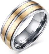 Titanium heren ring Goudkleurig Zilverkleurig 8mm-20mm