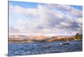 Uitzicht over het meer in het Nationaal park Lake District Aluminium 90x60 cm - Foto print op Aluminium (metaal wanddecoratie)