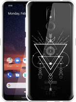 Nokia 3.2 Hoesje Abstract Moon White
