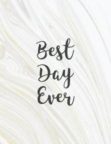 Best Day Ever: Wedding Guest Book White & Gold Marble Planning The Perfect Wedding