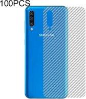 Let op type!! 100 PCS Carbon Fiber materiaal Skin sticker terug beschermende film voor Galaxy Note 8